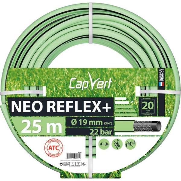 Tuyau d'arrosage Néo Reflex+ - Ø 19 mm - 25 M - Cap Vert