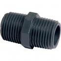 """Raccord PVC pression noir droit - M 1/2"""" - Girpi"""