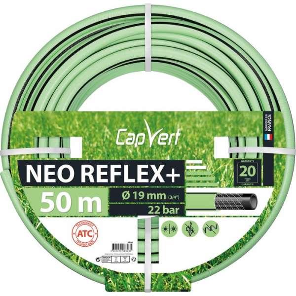 Tuyau d'arrosage Néo Reflex+ - Ø 19 mm - 50 M - Cap Vert