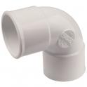 Raccord PVC blanc coudé 87°30 - Ø 32 mm - Double emboîture - Nicoll