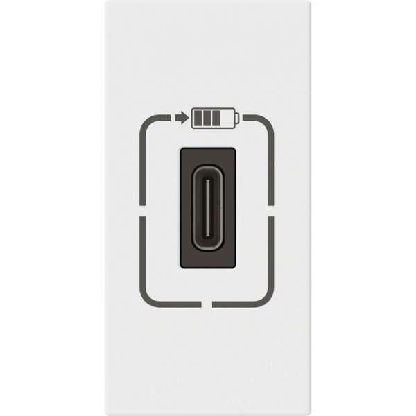 Prise de chargeur USB type C Mosaic blanc - Legrand