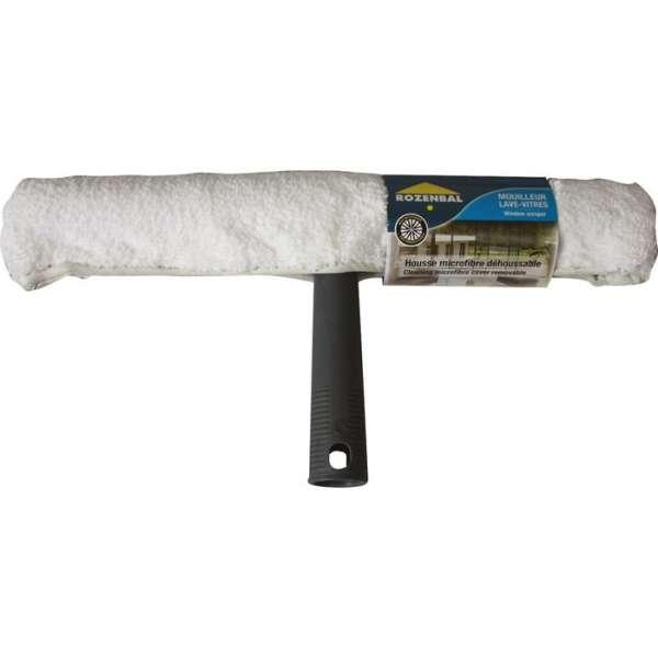 Raclette mouilleur lave-vitres avec housse lavante - Rozenbal