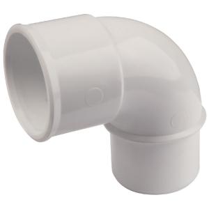 Raccord PVC blanc coudé 87°30 - Ø 32 mm - Simple emboîture - Nicoll