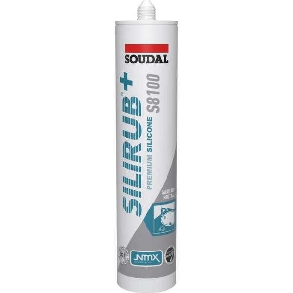 Mastic silicone Silirub+ S8100 translucide - 300 ml - Soudal