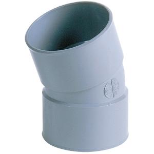 Raccord PVC gris coudé 20° - Ø 32 mm - Double emboîture - Nicoll