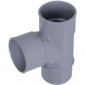 Pied de biche PVC gris 87°30 - Ø 32 mm - Double emboîture - Nicoll