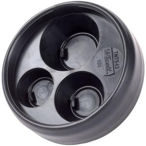 Tampon de réduction élastomère noir 3 sorties - Femelle - Ø 100 - 32 - 40 - 50 mm - Nicoll