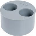 Tampon de réduction PVC gris 2 sorties - Femelle - Ø 100 - 40 - 40 mm - Nicoll