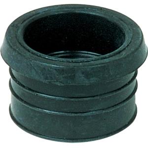 Tampon de réduction élastomère noir - Femelle - PVC Ø 32 mm - Métal Ø 12 à 22 mm - Nicoll