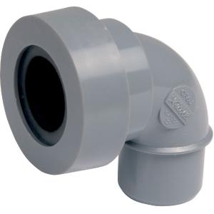 Adaptateur PVC gris coudé 87°30 - Ø 32 mm - Simple emboîture - Nicoll