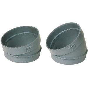 Raccord PVC gris coudé 15° - Mâle / femelle Ø 100 mm - Nicoll