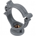 Collier monobloc PVC gris simple - Tube Ø 32 mm - Nicoll