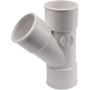 Culotte PVC blanc 45° - Ø 32 mm - Double emboîture - Nicoll