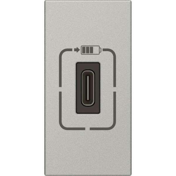 Prise de chargeur USB type C Mosaic aliminium - Legrand