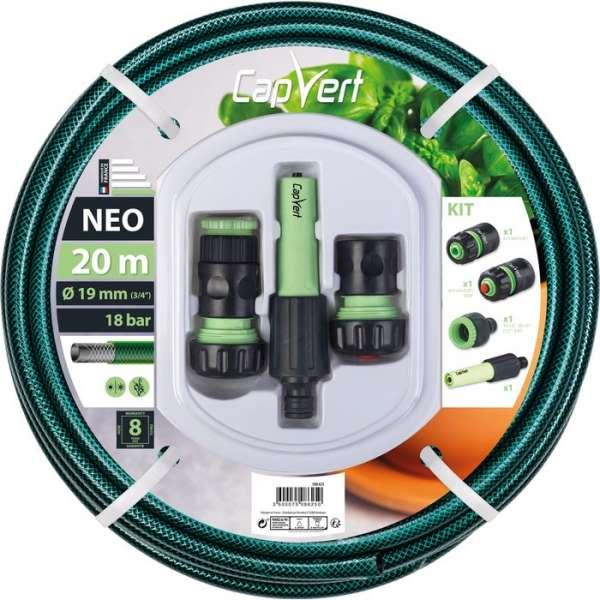 Tuyau d'arrosage Néo avec accessoires - Ø 19 mm - 20 m - Cap Vert