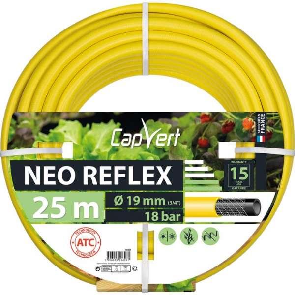 Tuyau d'arrosage Néo Reflex - Ø 19 mm - 25 M - Cap Vert