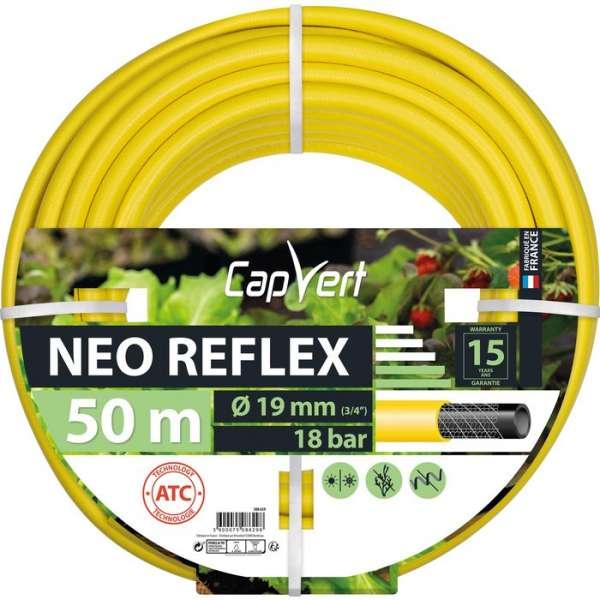 Tuyau d'arrosage Néo Reflex - Ø 19 mm - 50 M - Cap Vert
