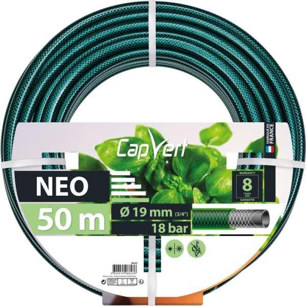 Tuyau d'arrosage Néo - Ø 19 mm - 50 M - Cap Vert