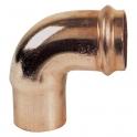 Raccord cuivre coudé à joint torique à souder - Mâle / femelle - Ø 32 mm - Conex / Bänninger