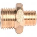 Raccord laiton hexagonal réduit à visser - M 1/8' à visser - M 1/4' - Sobime