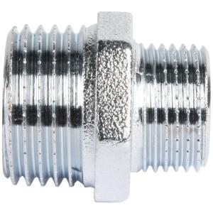 """Raccord laiton chromé hexagonal réduit à visser - M 3/8"""" à visser - M 1/2"""" - Sobime"""