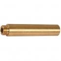 """Rallonge laiton droit à visser - M 3/8"""" - F 3/8"""" - 100 mm - Thermador"""