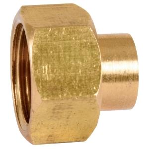 """Raccord laiton droit 2 pièces à souder - F 3/8"""" - Ø 10 mm - 359GC - Thermador"""