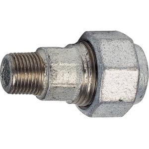 "Raccord fonte galva droit à serrage - M 1/2"" à serrage - Femelle Ø 20 mm - Virfollet & cie"