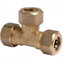 Raccord laiton en T à serrage - Ø 12 mm - Watts industrie