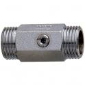 """Robinet d'arrêt droit - MM G1/2"""" - avec joint filtre plat - Presto"""