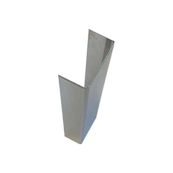 Embout plinthe inox adhésif - Hauteur 150 mm - inox poli - Duval
