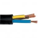 Câble souple industriel H07 RN-F noir - 3G1,5 mm² - Couronne de 50 m - Sermes