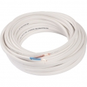 Câble méplat souple domestique H03 VVH2-F blanc - 2x0,75 mm² - Couronne de 10 m - Electraline
