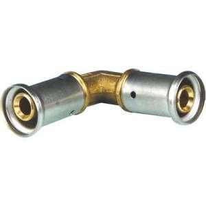Coude égal multicouche à sertir - Diamètre 50 mm - PVDF - Sélection Cazabox
