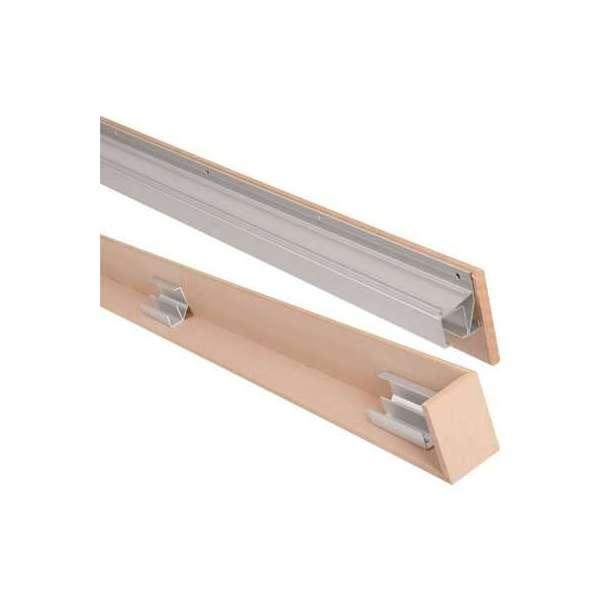 Kit pour porte coulissante SAF-clip - Avec tapée - Porte 80 kg - Pour porte largeur 780 à 830 mm - Mantion