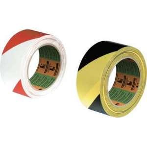 Ruban de marquage PVC adhésif - 33 m x 75 mm - Noir et Jaune - Sélection Cazabox