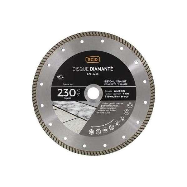 Disque diamanté béton granit crénelé - Diamètre 125 mm - SCID