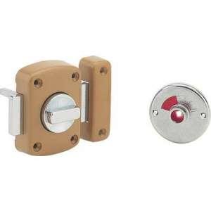 Verrou de sûreté Alouette WC - Longueur 45 mm - Bronze - Thirard