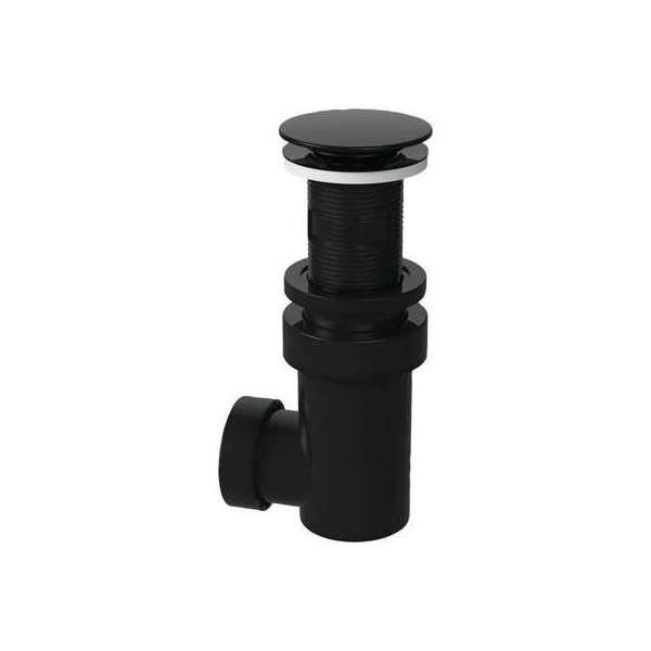 Bonde avec siphon intégré - Sortie 32 ou 40 - ABS Noir - Valentin