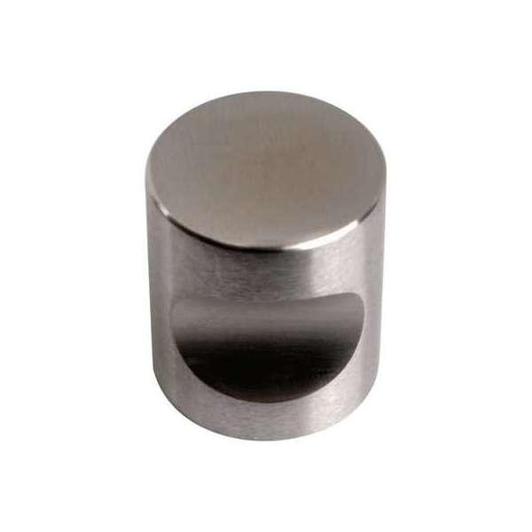 Bouton encoche inox satiné - Métaux Ouvrés décorés - Diamètre 25 mm - Sélection Cazabox