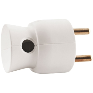 Fiche 2P+T plastique blanc sortie latérale - Legrand