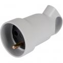 Prolongateur à anneau 2P+T plastique gris - Legrand