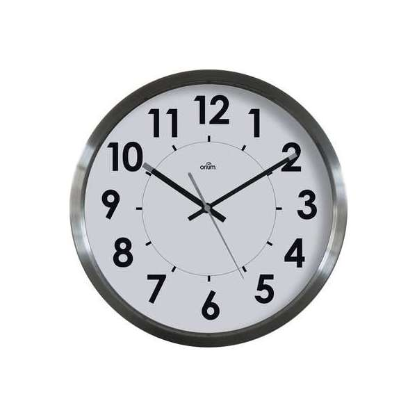 Horloge inox Stan - Diamètre 35 cm - Inox brossé - Orium