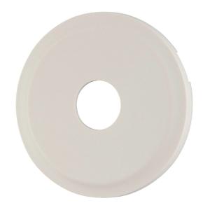 Enjoliveur blanc - Prise simple coaxial mâle - Céliane - Legrand