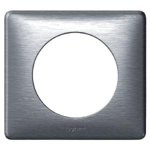 Plaque Anodisée Aluminium - 1 poste - Céliane - Legrand