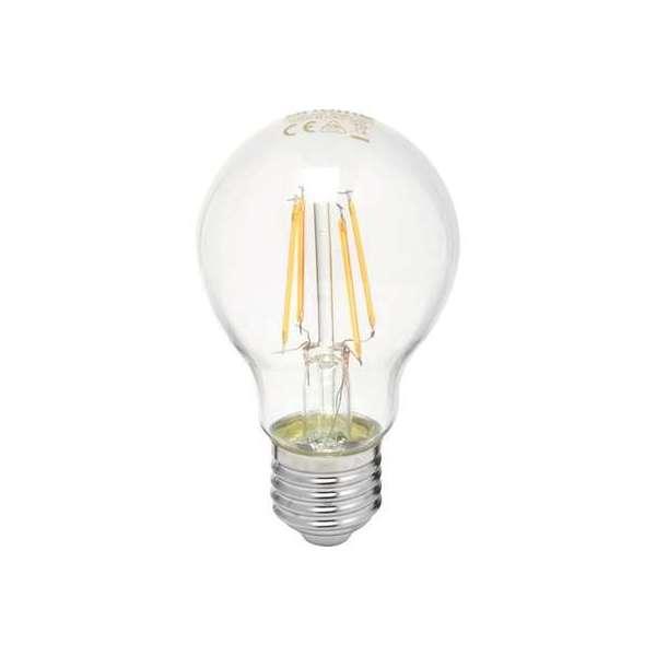 Ampoule LED standard claire à filament E27 - 806 Lumens - 7 W - 2700 K - Dhome