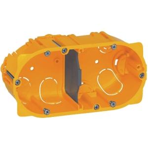 Boîte d'encastrement cloison sèche - 142 x 72,8 x 40 mm - 2 postes - Batibox - Legrand