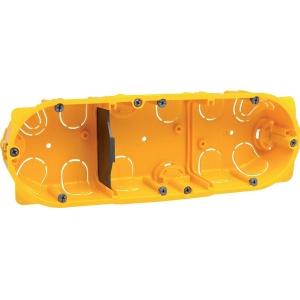 Boîte d'encastrement cloison sèche - 40 x 40 mm - 3 postes - Batibox - Legrand