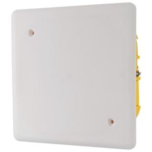 Boîte blanche carrée - 115 mm - Couvercle à vis - Batibox - Legrand