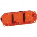 Boîte d'encastrement Vatibox multimatériaux 3 postes - Legrand
